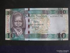 Dél-Szudán 10 Font 2015 UNC