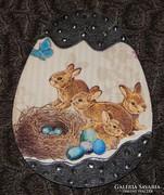 Húsvéti tojás ajtó, abalkdísz