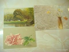 Tóparti legelő/Fréziák és tulipán/Egy rózsaszál