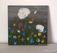 Virágos-modern kis festmény 21