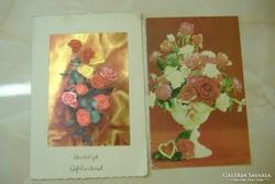 Anyák napjára küldött széthajthatós rózsás lap/Rózs