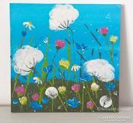 Virágos-modern kis festmény 9