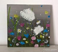Virágos-modern kis festmény 15