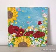 Virágos-modern kis festmény 20