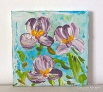 Virágos-modern mini festmény 26