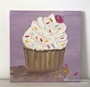 Cupcake-modern mini festmény 32