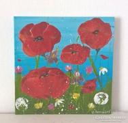 Virágos-modern mini festmény 35