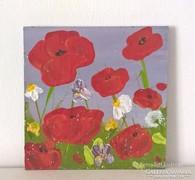Virágos-modern mini festmény 36