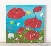 Virágos-modern mini festmény 37