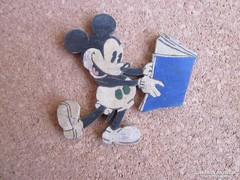 Régi, festett fa játék - Mickey -