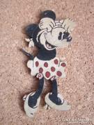 Régi, festett fa játék - Minnie -