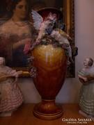 19. század gyűjtői darab! Majolika díszváza.