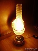 Petróleum formájú,bütykös üvegű asztali lámpa,fali lámpa ÚJ!