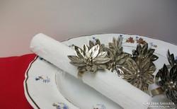 Virág forma, ezüstözött szalvétagyűrű 1 db 1500 Ft