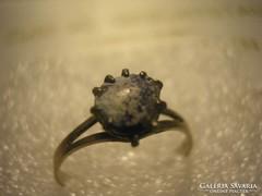 Antik,porcelán köves gyűrű