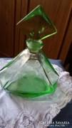 Régi zöld metszett üveg tetővel