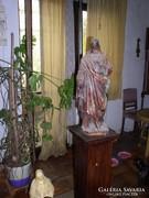 Jézus szobor, festett gipz, 66 cm magas