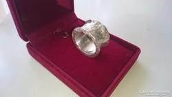 Ezüst kézműves, iparművész gyűrű 21.1 gramm 925.