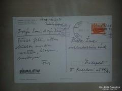 Juhász Ferenc által írt képeslap