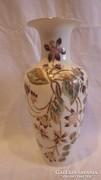Zsolnay jelzett számozott aláírt porcelán váza 27 cm