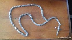 Kézi készítésű ezüst királylánc