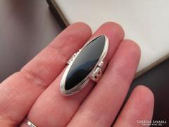 Ónix köves emlék gyűrű - ezüst  - nyitható