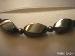 Hematit nyaklánc-kollié ritkaság 50 cm luxus ékszer
