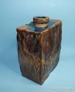 Retro pirogránit szögletes váza