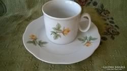 Sárga rózsás Zsolnay bögre+süteményes tányér 3db