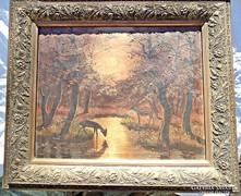Szignózott olaj festmény
