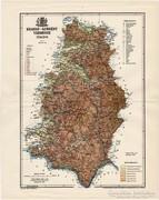 Krassó - Szörény vármegye térkép 1895, régi, antik, eredeti