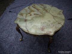 Barokk rokoko márványlapos antik asztal 45x60cm magas