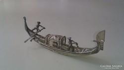 Ezüst filigrán dzsunka, kis hajó 925.