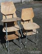 Retro Iskola szék 5db