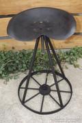 Vintage Veterán traktor szék forgó bárszék Lofl ipari műhely