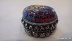 Millefiori gyűrű - ékszertartó doboz