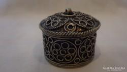 Antik filigrán gyűrű - ékszertartó doboz