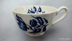Kék mintás fajansz teás csésze