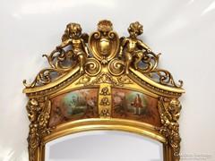 Angyalos antik kastély tükör konzolasztallal