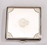 Ezüst cigarettatárca címerrel