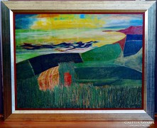 Nagy Tibold (1923-1988) festmény, 1970.k.