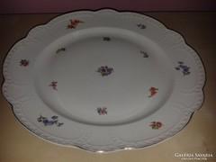 Zsolnay virágmintás, nagyméretű süteményes tál.