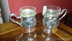 Ezüst páros kávéscsésze