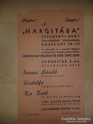 Étterem szórólap: Jöjjön a Hargitába ... 30-as 40-es évek