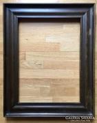 100 éves antik tömörfa képkeret, tükörkeret. 59,5 x 44 cm