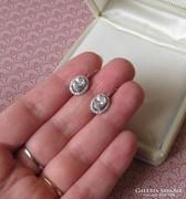 Ezüst fülbevaló cirkónia kövekkel - patentzáras - új ékszer