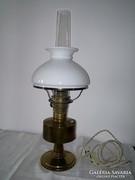 Réz petroleum lámpa