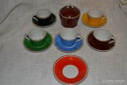 Retro Hollóházi kávésok ( DBZ 0075 )