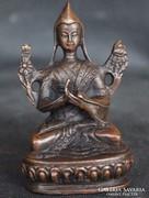 Keleti bronz Buddha szobor Congkapa