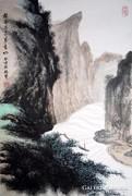 Kínai festmény - Zhang ZeXian: Folyó